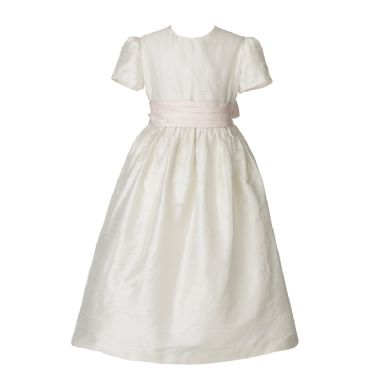 Ivory Flower Girl Sash Dress | Patrizia Wigan Designs